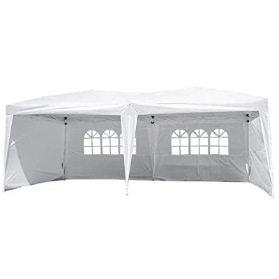Party Tent Pop Up Canopy, 10x20 Canopy Sun EZ Up Canopy Tent Instant Folding Canopy W/Carrying Bag Waterproof : Garden & Outdoor