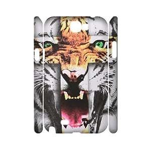 Tiger Roar Cross 3D-Printed ZLB515273 DIY 3D Phone Case for Samsung Galaxy Note 2 N7100