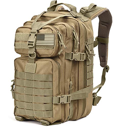 Tru Salute Military Tactical Backpack Large Tan Army 3 Day Assault Pack Molle Bugout Bag Rucksack (tan)