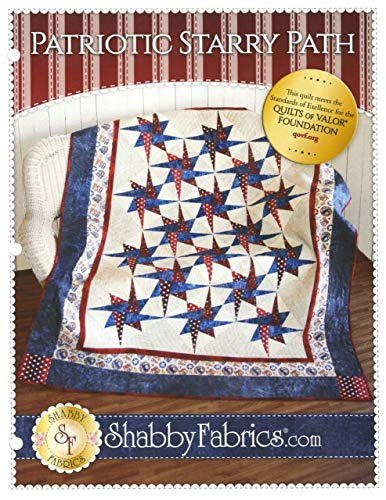 Patriotic Starry Path,Quilt Pattern by Shabby Fabrics~ 56