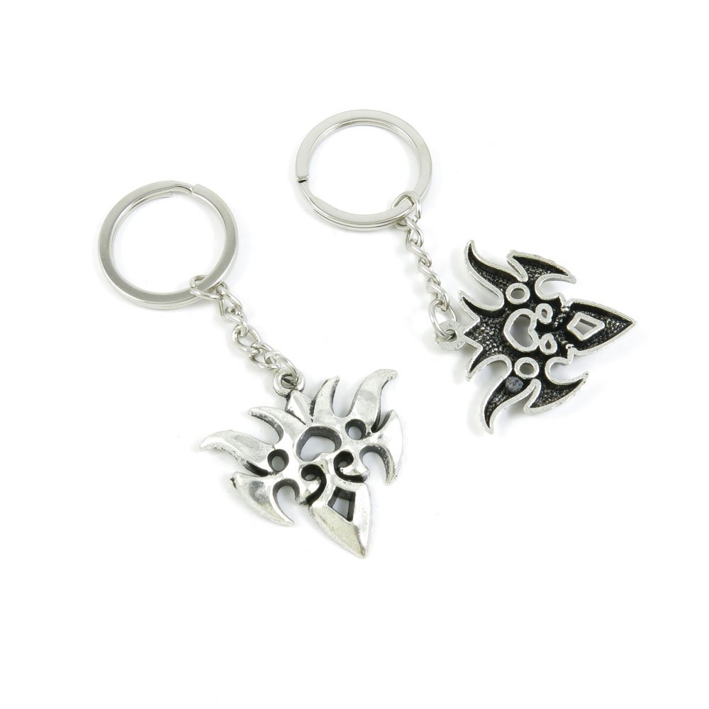 100 Pieces Keychain Door Car Key Chain Tags Keyring Ring Chain Keychain Supplies Antique Silver Tone Wholesale Bulk Lots T7DQ6 Carnival Masks