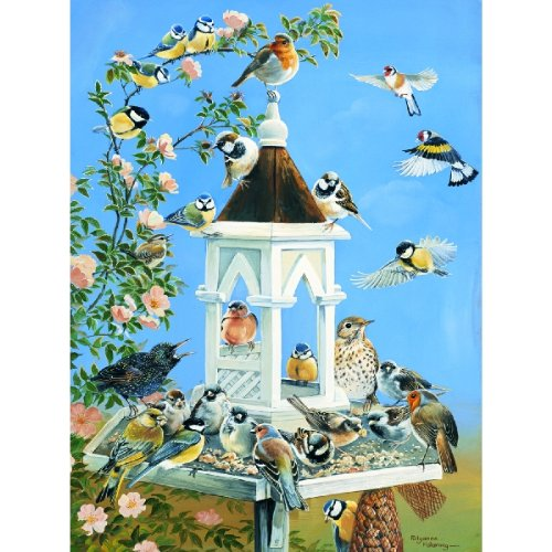 Bird Feed 1000pc Jigsaw Puzzle by Pollyanna Pickering