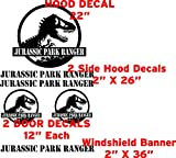 6 Piece Jurassic Park Ranger Decal Set (black)