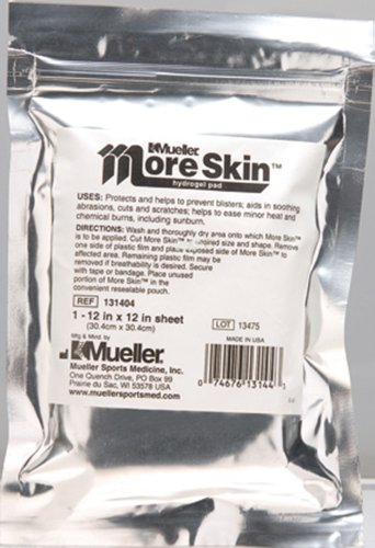 Mueller More Skin Hydrogel Dressing, Non-Medicated, Non-Sterile 12
