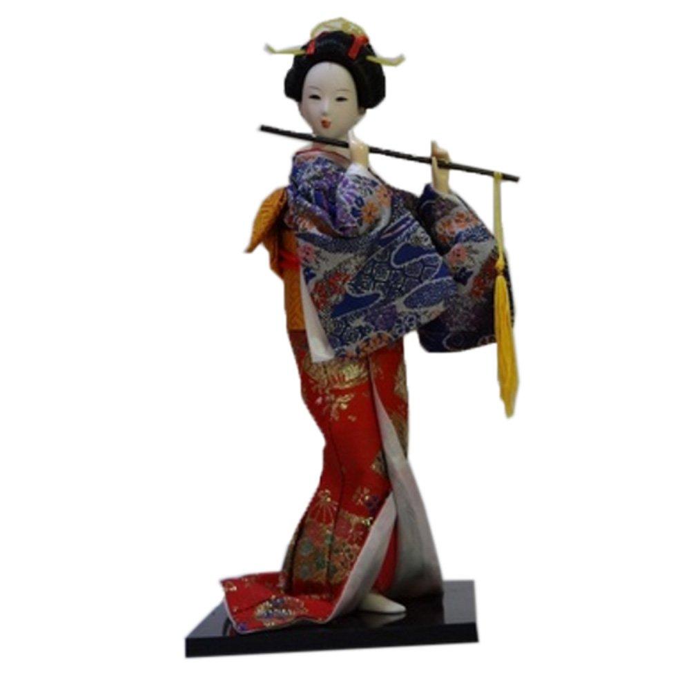 Japanische Brokat Kimono  Puppe Geisha Figur Figur Statue Dekor # 6