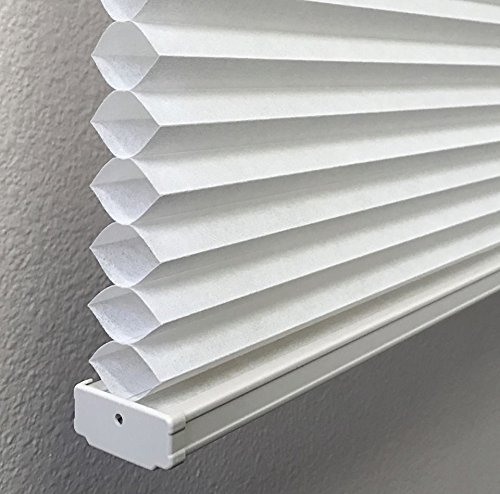 Cotton White, Light Filtering Cellular / Honeycomb Shades, 18