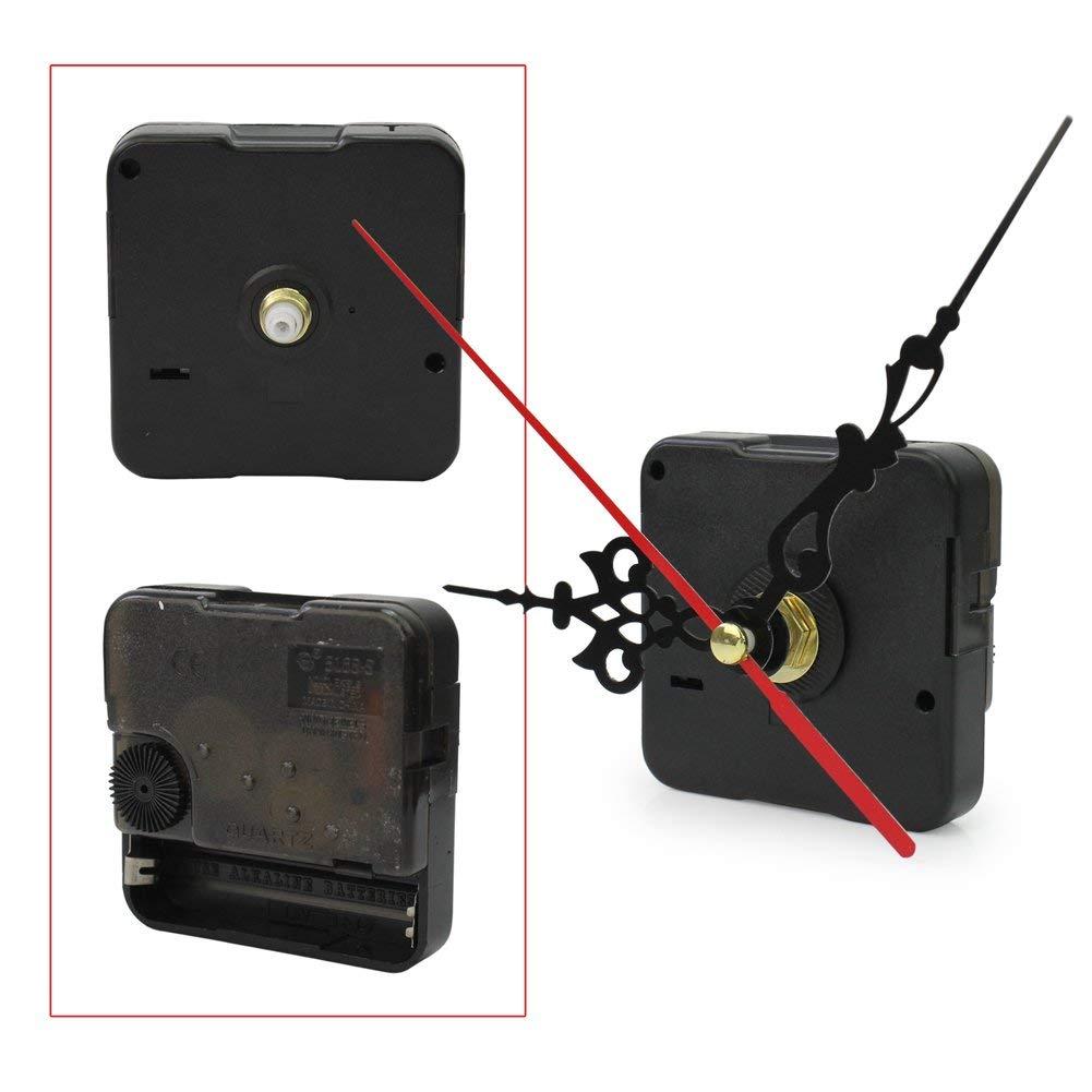 Utile et Pratique Li-ly Quartz Horloge Kit M/écanisme de mouvement M/écanisme Pi/èce de r/éparation Outil de bricolage noir Travail /à la main