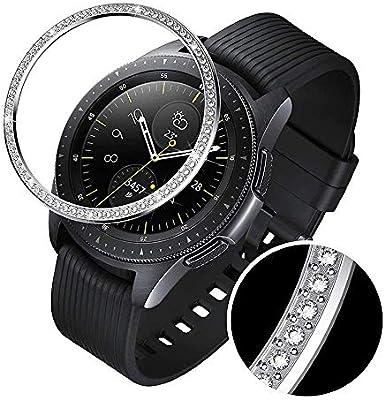 FOONEE Anillo De Bisel Compatible con Samsung Gear S3/Galaxy Watch, Smart Watch Bisel Cubierta Adhesiva Protector contra Arañazos Y Colisión con Kit ...