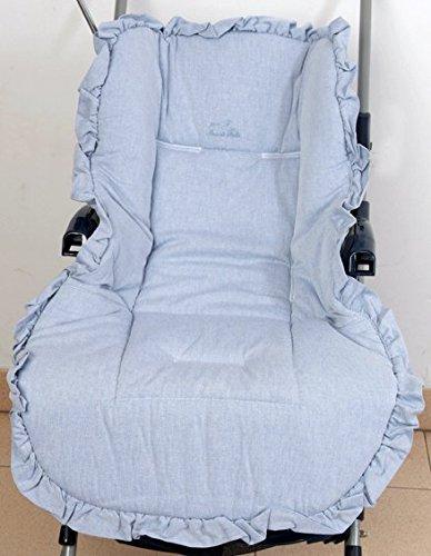 Colchoneta para silla de paseo universal vaquero. Funda silla de coche. Mundi Bebé.