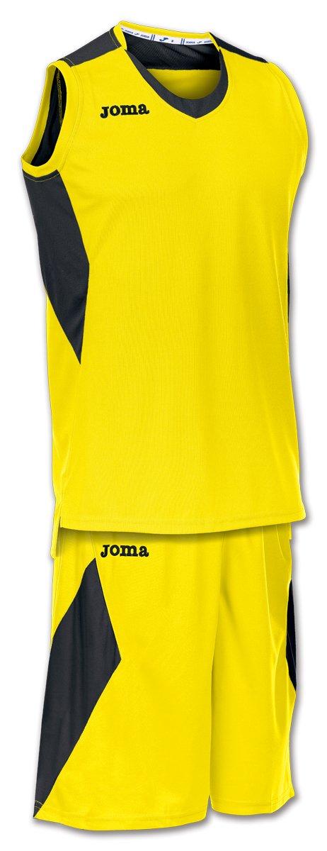 Joma Space, men's basketball shirt and shorts, white/navy blue.Medium.
