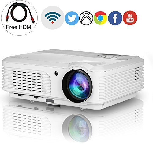 HD Wireless LCD Projector WXGA 3200lumens Support 1080p H...