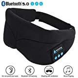 Wireless Sleep Headphones Bluetooth 5.0 Sleep Mask Comfortable Breathable Eye Mask Travel Music Eye...