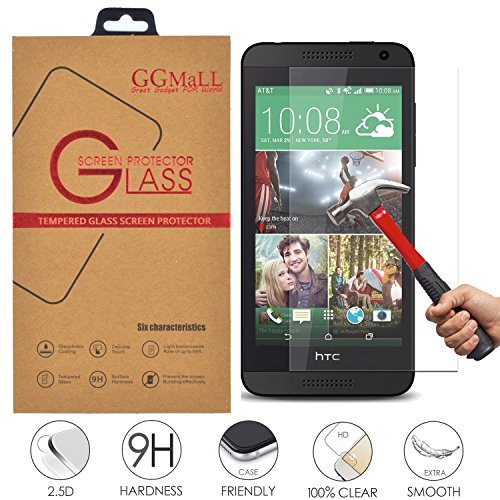 n Protector, GG MALL Anti Scratch Explosion Proof Tempered Glass - Ultra-thin [0.26mm] Ballistics Glass for HTC Desire 610 ()