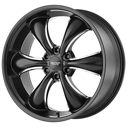 20 Inch Black American Racing (American Racing AR914 Satin Black Wheel with Milled Finish (20x8.5/6x139.7, +30mm Offset))