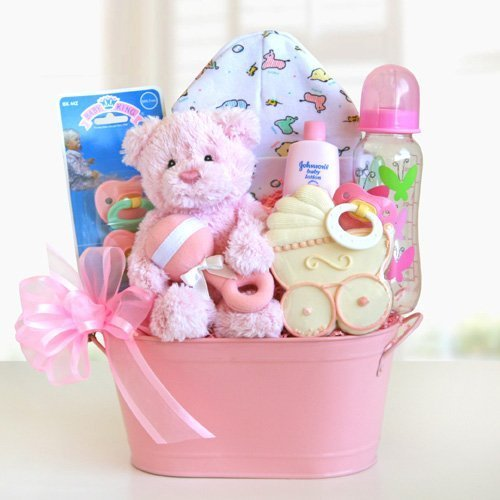 Warm Welcomes Newborn Baby Gift Basket - Girl