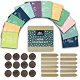 Herb Garden Seed Starter Kit - Plant Herb Seeds Your Self and Grow Your Own Herb Seedlings - Indoor or Out (with peat pods/pellets)