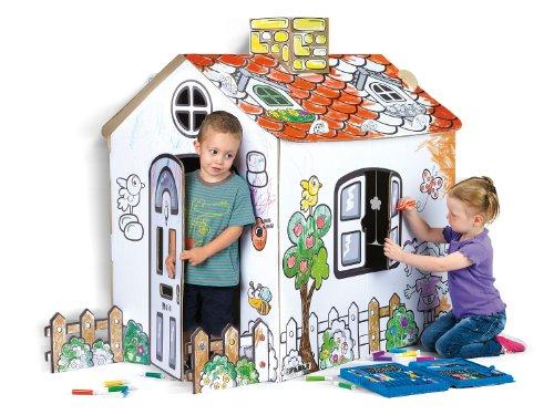 Feber - Pinta tu casita - Casa de cartón para decorar (Famosa 800007513))