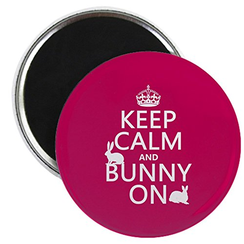 CafePress - Keep Calm and Bunny On Magnet - 2.25