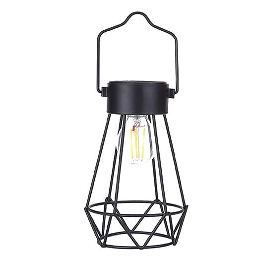 LNIMIKIY - Lámpara Solar de Acampada, Red de Hierro, decoración de ...