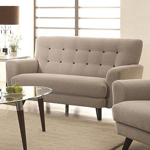 Coaster 504772 Home Furnishings Love Seat, Light Grey