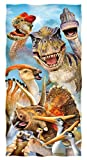 Dawhud Direct Dinosaurs Selfie Cotton Beach Towel