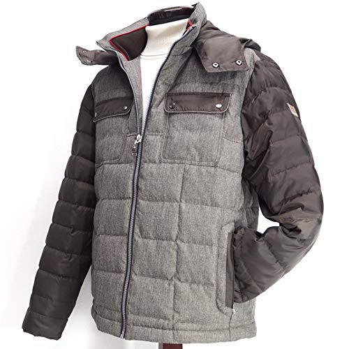 40189 秋冬 撥水性 透湿性 ブルゾン ダウンコート  フード取り外し可 グレー(灰色) サイズ 52(3L) VAGIIE バジエ 紳士服 メンズ 男性用