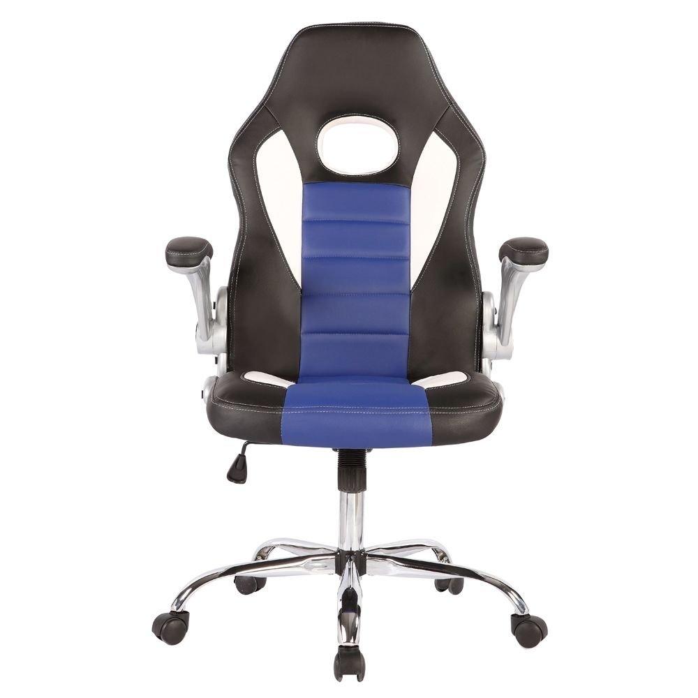 Executive Racing Style Bucket Office Desk Chair Task Swivel Ergonomic PU Leather