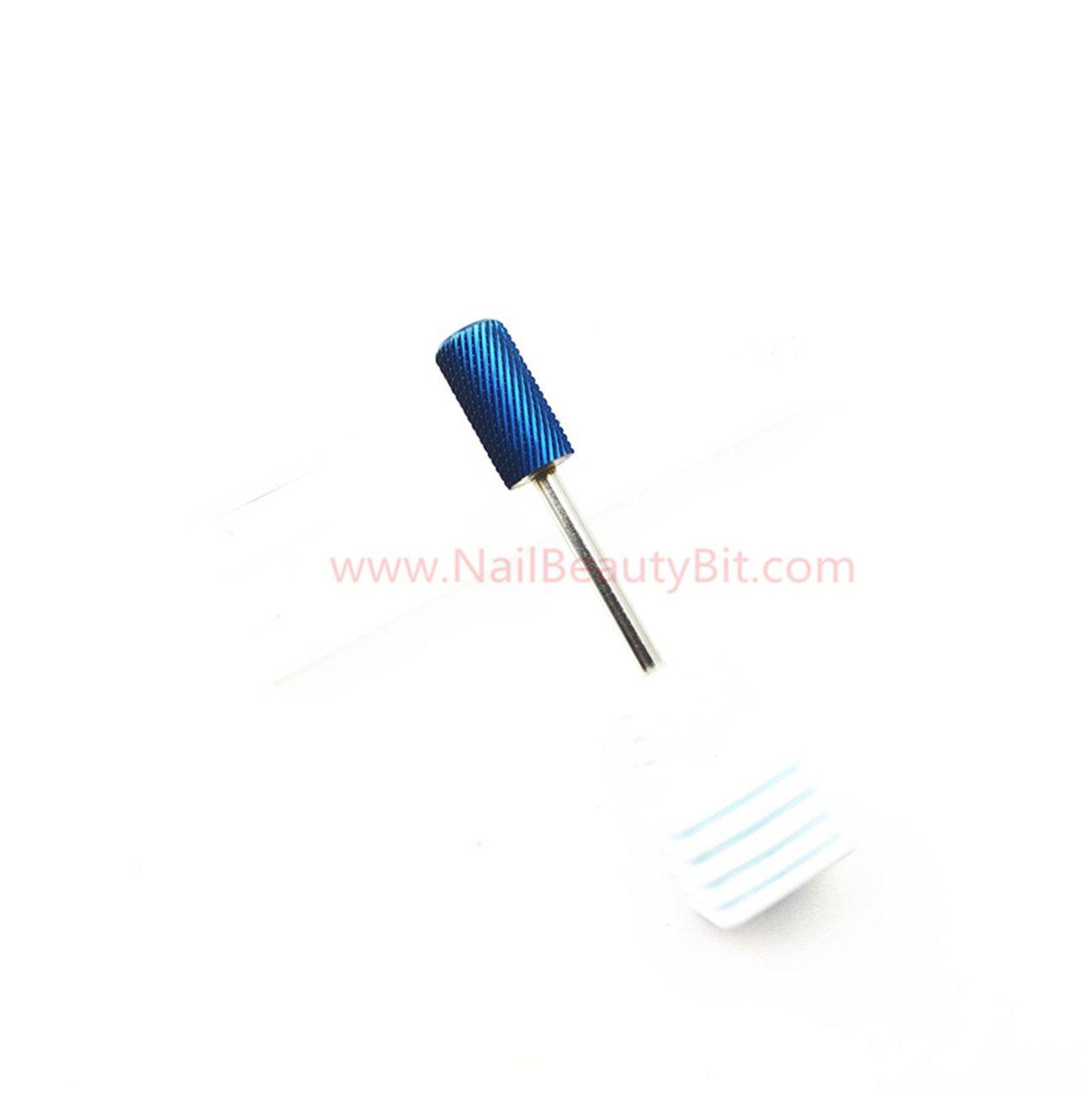 rivestimento Nano blu manicure elettrica taglio rapido H1B rimozione di gel Punta in metallo duro EASTAR NBB 1pc punta da manicure punta di bellezza per unghie gambo 3//322.35mm Nano blu