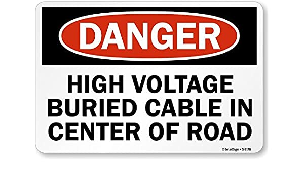 riuolo por riuolo s-9178-al-12 X 18 Peligro Cable enterrado ...