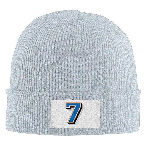 Unisex Custom Number 7 Team Number #7 Fashion Beanie Caps Ash