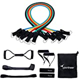 Sportneer Resistance Band Set, Stackable Up To 105lbs Exercise Bands Door Anchor Ankle Strap Chest Expander