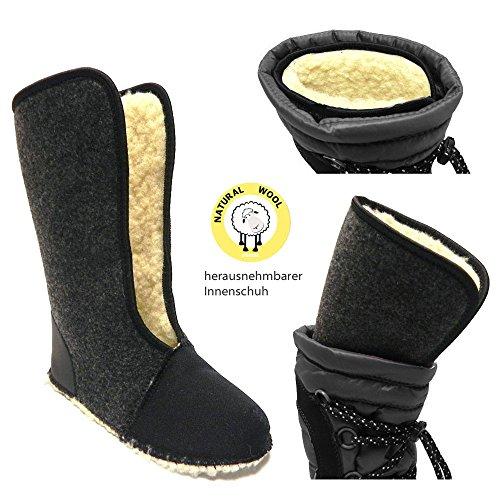 Demar Samanta - Botas de invierno con forro de lana Negro - negro