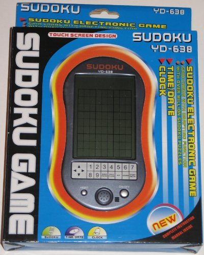 Sudoku Touch Screen Handheld - Electronic Sudoku Handheld Game - YD-638 - Touchscreen design by Hawthorne Direct by Hawthorne Direct