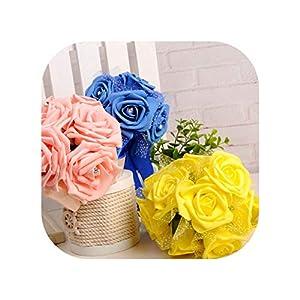 meiguiyuan Rose Bridesmaid Foam Flowers Wedding Bridal Bouquet Classic Romantic Multicolor Ribbon Customized 101