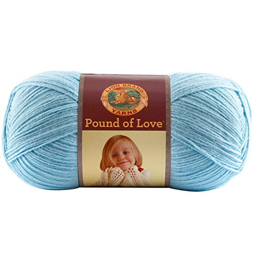 Lion Brand Yarn 550-106B Pound of Love Yarn, Pastel Blue