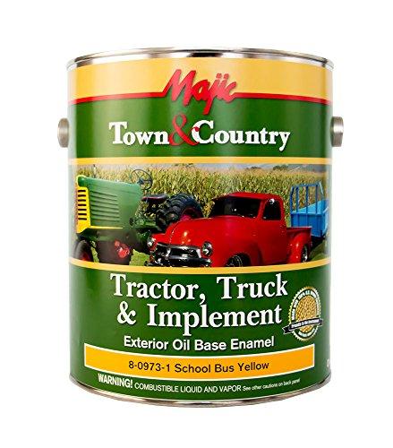 Majic Paints 8-0973-1 Town & Country Tractor, Truck & Implement Oil Base Enamel Paint, 1-Gallon, School Bus - Industrial Alkyd Enamel Best