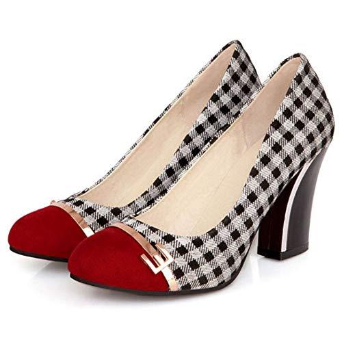 Coolcept Chaussures Escarpins Mode Rouge À Femmes Talon Haut WwwSPg84q1