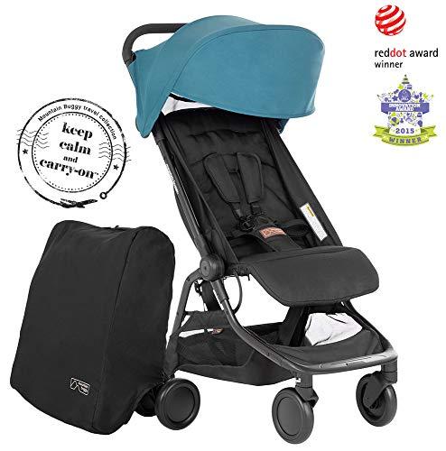 Mountain Buggy Nano V3 (2020+) - Cochecito de bebe con bolsa de viaje, color a