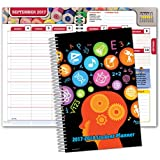 """Dated Middle School or High School Student Planner for Academic Year 2017-2018 (Matrix Style - 5.5""""x8.5"""")"""