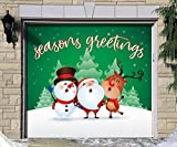 Outdoor Christmas Holiday Garage Door Banner Cover Mural Décoration - Christmas Characters Seasons Greetings Winter - Outdoor Christmas Holiday Garage Door Banner Décor Sign 7'x8'