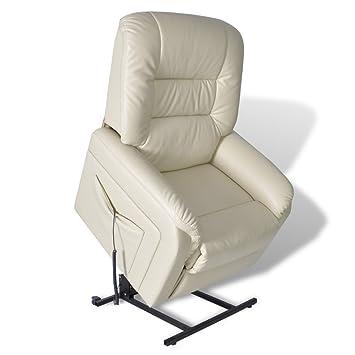 Relaxsessel garten weiß  vidaXL Fernsehsessel Elektrisch Relaxsessel Aufstehsessel Sessel + ...