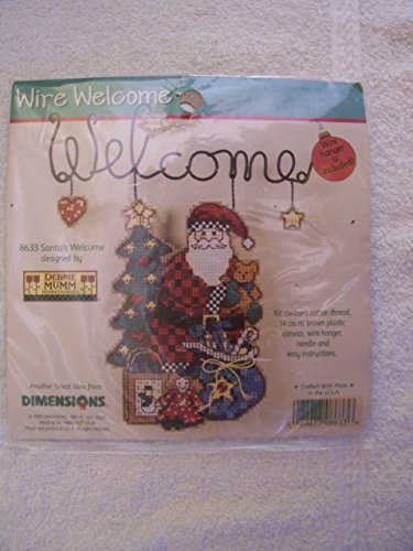Dimensions Plastic Canvas Wire (Santa's Welcome Wire Counted Cross Stitch Kit)