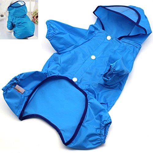 Hunde Regenmantel Regenjacke Wasserdicht mit Kapuze fiimi Regen Jacke für Hund mit vier Gliedmaßen verdeckt Design