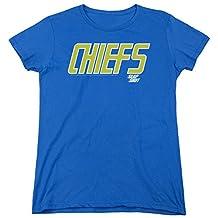 Slap Shot Chiefs Logo Womens Short Sleeve Shirt