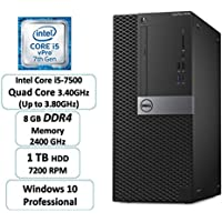 Dell Optiplex 7050 | i5-7500 Quad Core | 8GB DDR4 | 1TB HDD | Win 10 Pro | Mini Tower (Certified Refurbished)