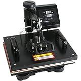 "ZENY Heat Press 12"" x 15"" Pro 6 in 1 Combo Heat Press Machine Digital Multifunction Transfer Sublimation T-Shirt /Mug /Hat /Plate (#01)"