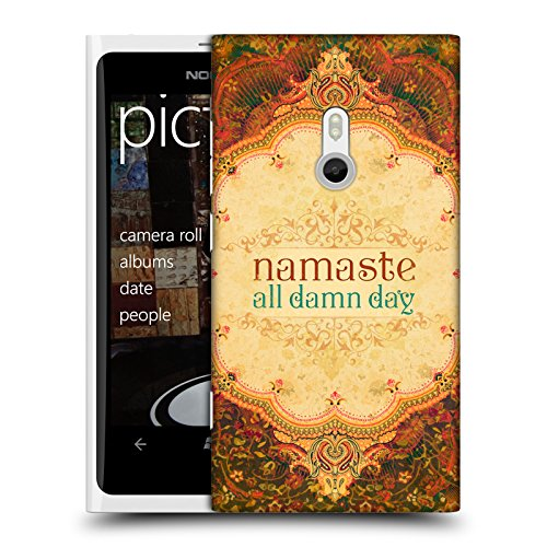 Official Duirwaigh Namaste Typography 2 Hard Back Case for Nokia Lumia 800 / Sea - Nam Ray