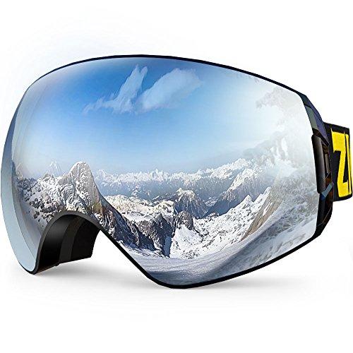 ZIONOR X7 Ski Snowboard Goggles with UV Protection Anti-fog OTG Spherical Lens Anti-slip Strap for Men Women  sc 1 st  Amazon.com & Ski Goggles Low Light: Amazon.com azcodes.com