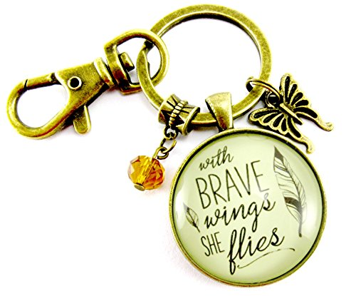 with-brave-wings-she-flies-keychain-hipster-style-inspirational-quote-bronze-glass-jewelry-butterfly