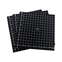 Wisamic 3 Pack 300mmx300mm 3D Printing Build Surface Heat Bed with 3M Adhesive, 10mm Grid, for 3D Printers Prusa, CR-10, Mendela, AO Series by Wisamic